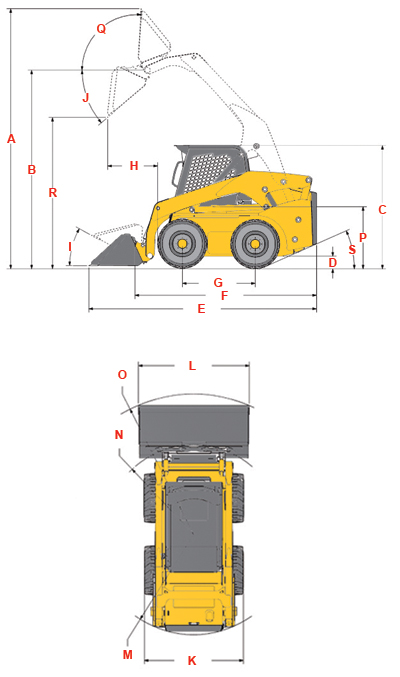 Gehl Vertical Lift Skid Steer V330 Reference Diagram